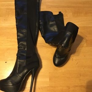 Shoes - Black high heel boots